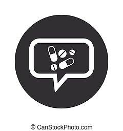 Round dialog medicine icon