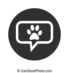 Round dialog pet icon
