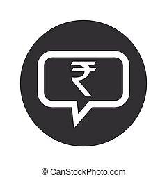 Round dialog rupee icon