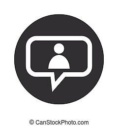 Round dialog user icon