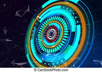 Round digital button wallpaper