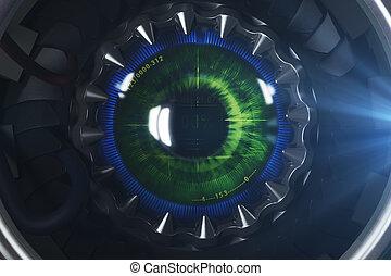 Round digital eye