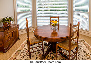 Round Dining Table in a Sunny Room