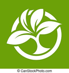 Eco logo with leaves