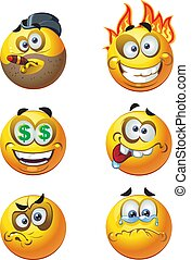 round emotion smiles 8