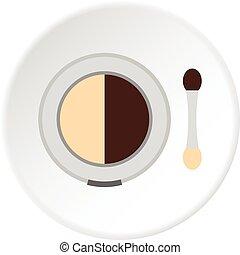 Round eye shadow icon circle