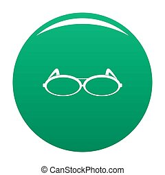 Round eyeglasses icon green