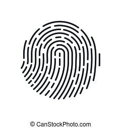 Fingerprint - Round Fingerprint Icon Detailed for Simple...