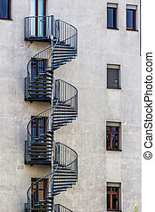 Round Fire Escape Stairs