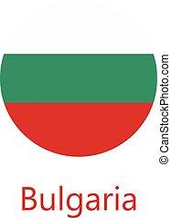 Round flag Bulgaria