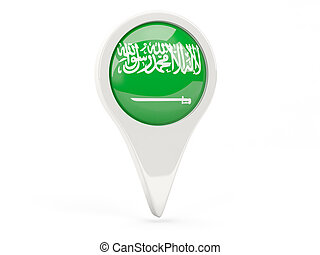 Round flag icon of saudi arabia isolated on white