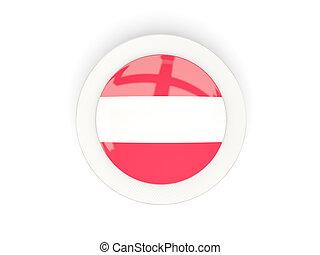 Round flag of austria with carbon frame