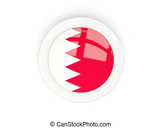 Round flag of bahrain with carbon frame