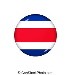 Round flag of Costa Rica. Vector illustration. Button, icon...