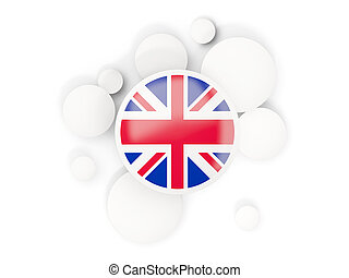 Round flag of united kingdom with circles pattern