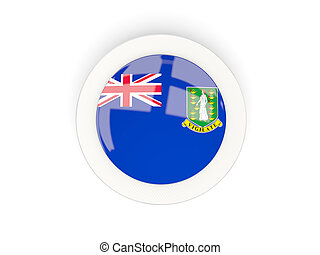 Round flag of virgin islands british with carbon frame