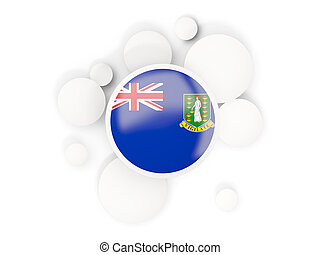 Round flag of virgin islands british with circles pattern