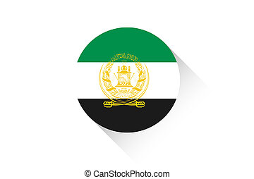 Round flag with shadow of Afghanistan
