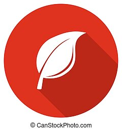 Round flat design red vector icon