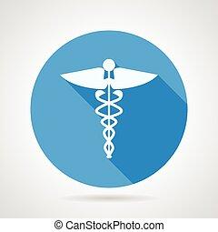 Round flat icon for medicine symbol