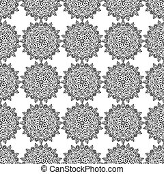 Round Floral Lace Seamless Pattern