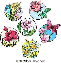 Round flower designs