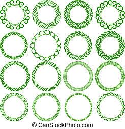 round frame - Set of decorative round frame
