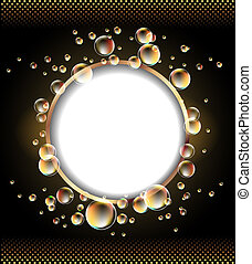 Round frame   - Round frame and bubbles