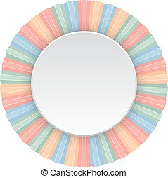 round frame - Round frame of color pencils. Vector...