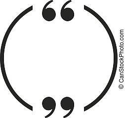 Round frame for a quote empty. Text bubble