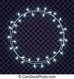Light Bulb Circle Round Lights Frame On Transparent Background