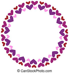 Round frame with hearts