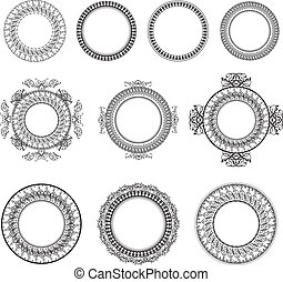 Round Frame Set - Vintage Round Frame Collection Over White