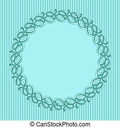 Round frame with decorative elements. Vector illustration