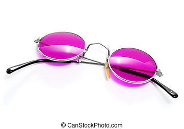 round-framed glasses isolated on a white background