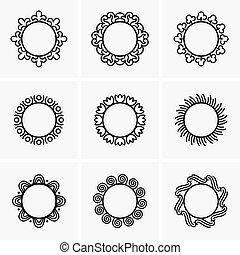 Round frames - Set of round frames