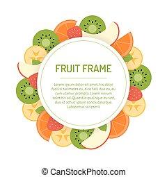 Round fruit frame
