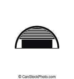 Round garage icon, simple style