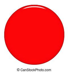 Round Glass Button