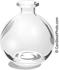 Round Glass Jar - 3D Realistic Illustration of a round glass...