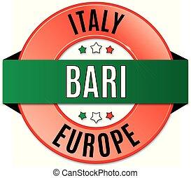 round glossy bari badge