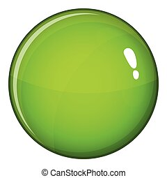 Round glossy button icon, cartoon style