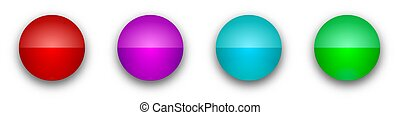 Round glossy buttons. Color bright buttons isolated