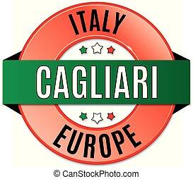 round glossy cagliari badge