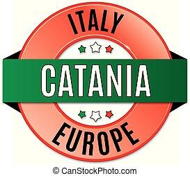 round glossy catania badge