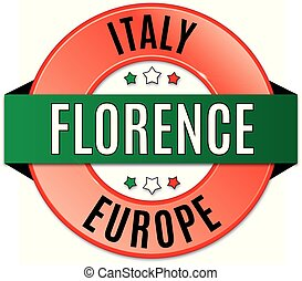 round glossy florence badge