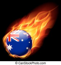 Round glossy icon of Australia