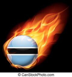 Round glossy icon of Botswana