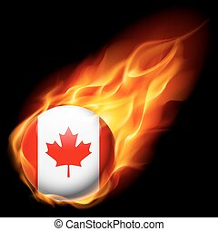 Round glossy icon of Canada
