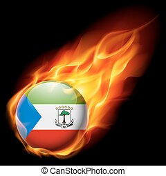 Round glossy icon of Equatorial Guinea - Flag of Equatorial...